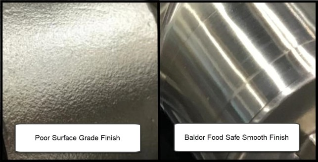 Baldor Food Safe Smooth Finish Comparison